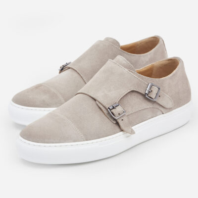 sneakers camoscio con doppia fibbia4